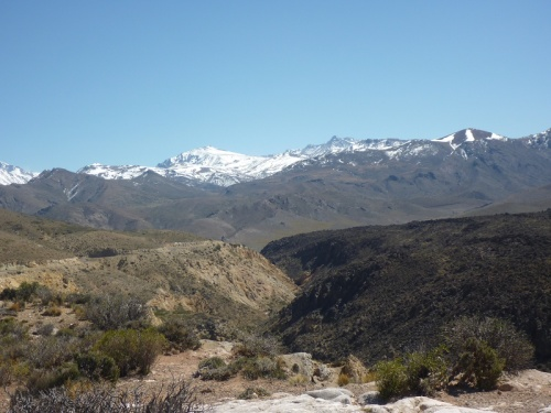 Looking towards the Andes