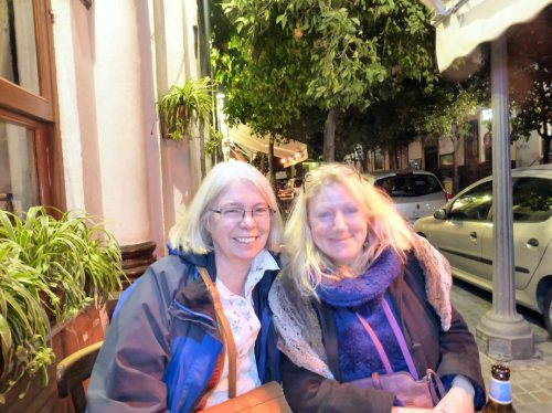 Sonia, who took most of the pics, and Giannella, our lovely host, in post-tapas glow at Bar Giralda.