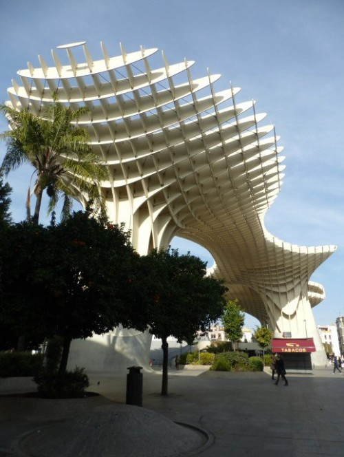 The 'Mushroom', Seville, basically built of thick plywood!