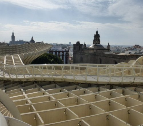 View over Seville from the mushroom